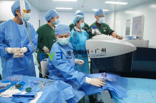 广州爱尔眼科医院:王铮院长利用飞秒激光对供体角膜进行削切